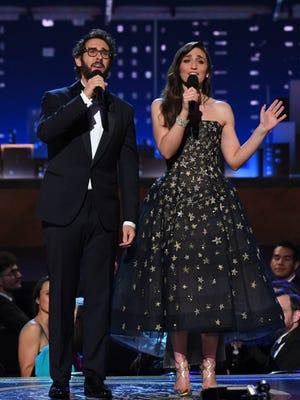 Sara Bareilles and Josh Groban host the 72nd Tony Awards at Radio City Music Hall.