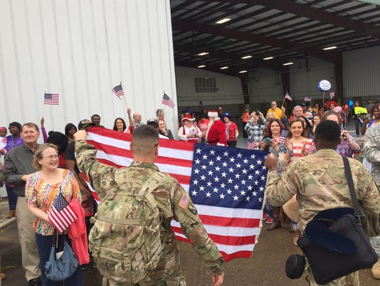 Troops return home