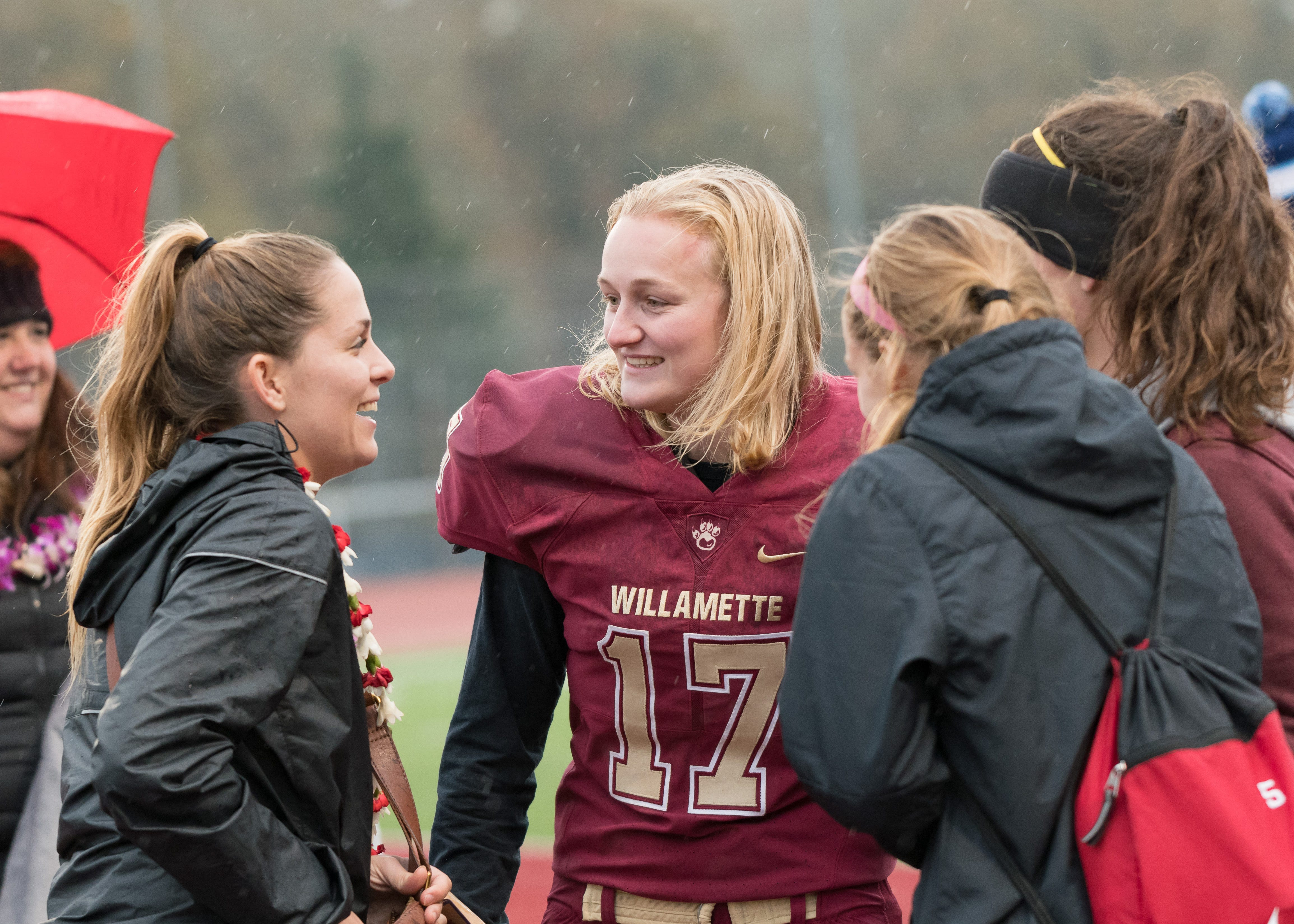 Liz Heaston first woman to play and score in a college football game