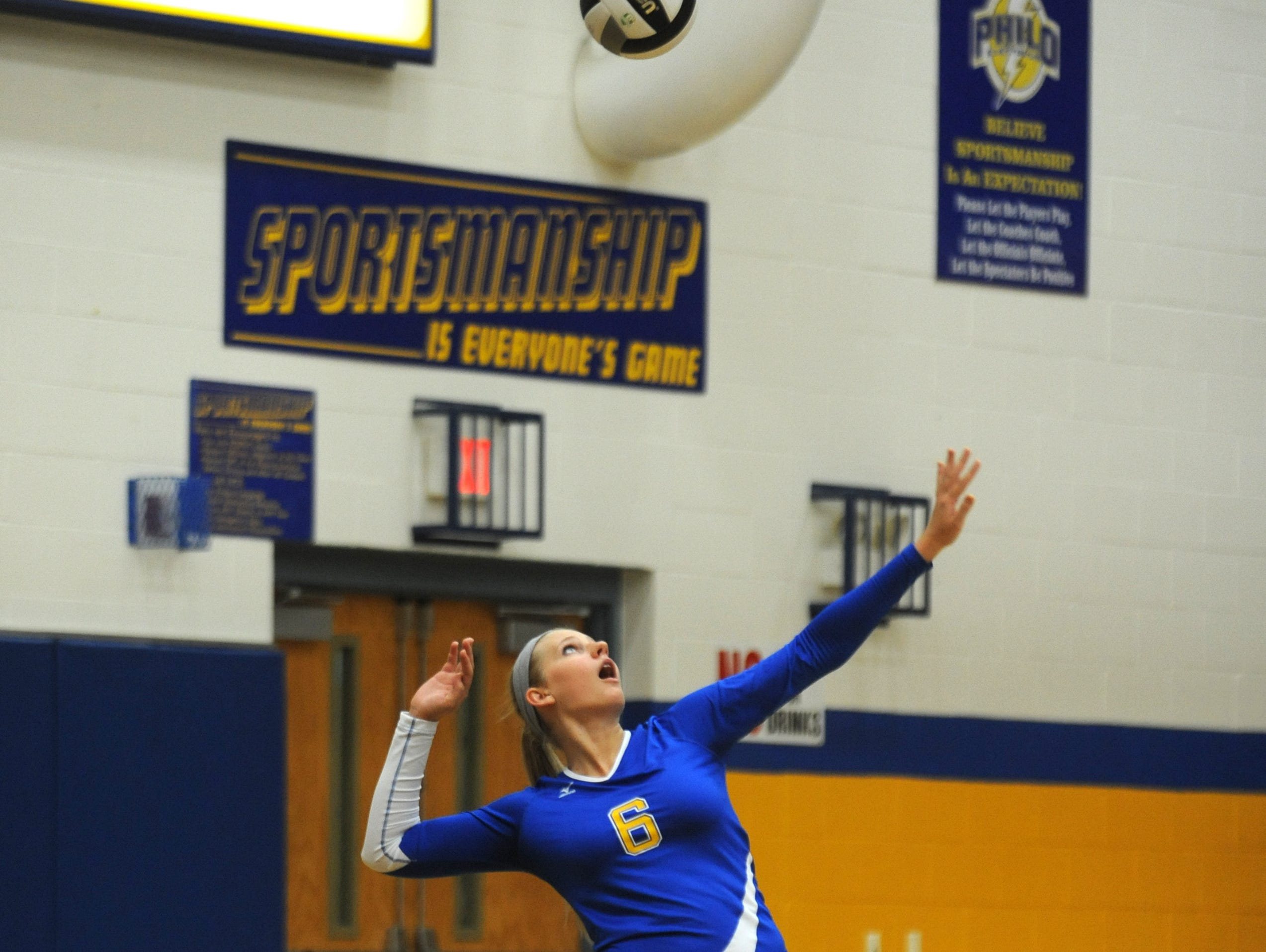 Philo's Corrie Burkhardt earned All-Ohio recognition from the state's volleyball coaches on Sunday night.