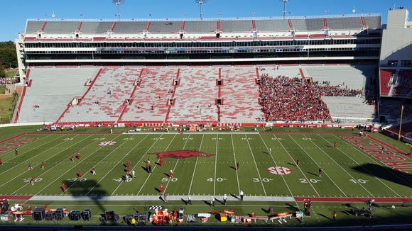 Here in Fayetteville for Alabama's SEC road game at