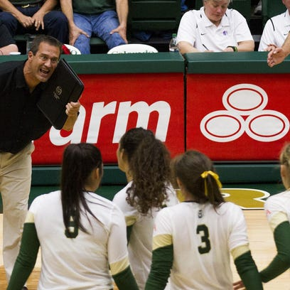"""With a 5-0 start to Mountain West play, the No. 21 CSU volleyball team will host Air Force at noon Saturday in its annual """"pink out"""" game."""