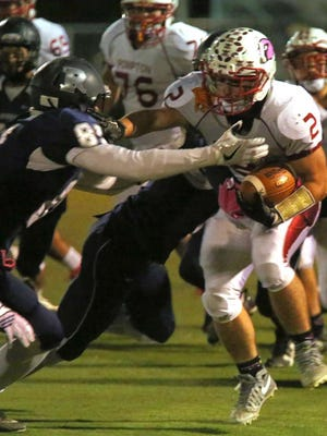Chris Grecco's late touchdown helped secure the Cardinals win over Rutherford on Friday night.