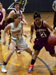 Verona's Desiree Meyer as a freshman in a game against North Star Academy.