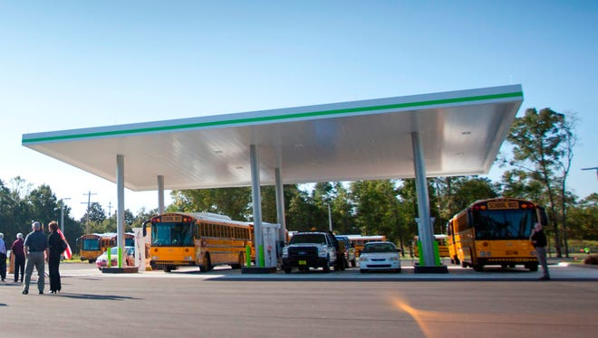 Nopetro's Tallahassee fueling facility was the product of a partnership with Leon County Schools, which operates buses that run on compressed natural gas.