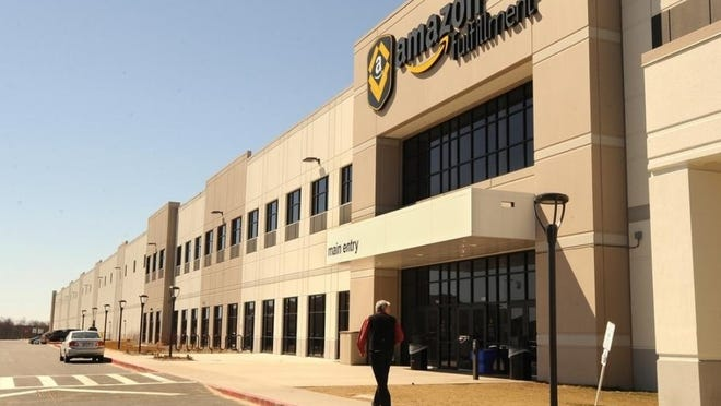 The Amazon fulfillment center in Fall River officially opened in 2017. The company announced Tuesday it will be opening eight delivery stations in Massachusetts, including ones in Taunton, Middleboro and Mansfield.