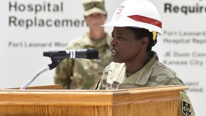 """Maj. Gen. Donna Martin, Maneuver Support Center of Excellence and Fort Leonard Wood commanding general, described the groundbreaking event for the new hospital as a """"historic moment for Fort Leonard Wood."""""""