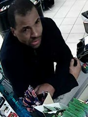 Man wanted in robbery of Royal Gas Station, 2012 W. College Ave., shortly before 9 p.m. on Jan. 9.