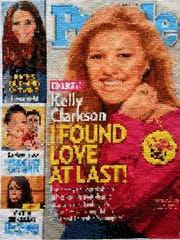 A cross-stitch re-creation of a 2013 People magazine
