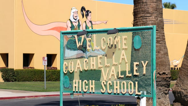 The outside of Coachella Valley High School.