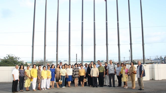 Consul General Marciano R. de Borja led the flag raising ceremony during the commemoration of the 30th anniversary of the EDSA People Power Revolution with Guam Senators Tina Muña Barnes, Tom Ada, Frank Aguon, Consul General Roberto Ruecho of the Federated States of Micronesia, Consul General Vic April of Palau, Mayor Melissa Savares of Dededo, and members of the Filipino Community of Guam.