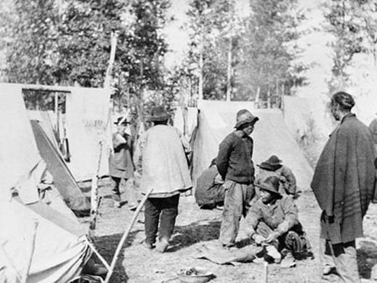 Chinese Camp in Canada in 1868.