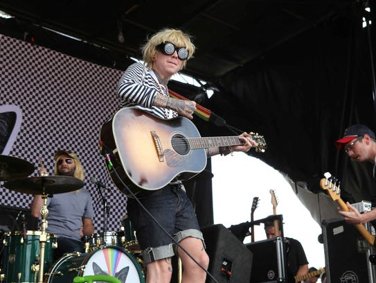 Christofer Drew performing with Never Shout Never