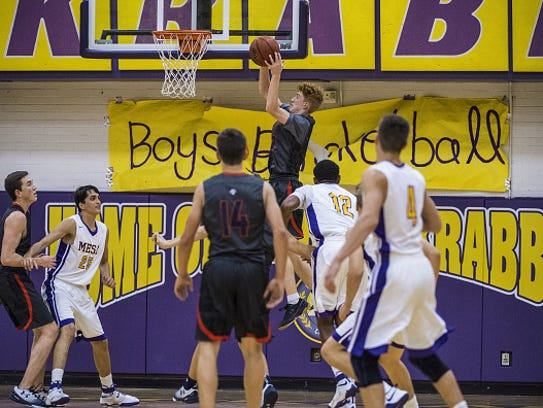 High School Basketball: Pinnacle HS Nico Mannion (33)