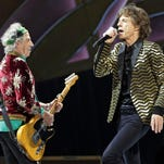 Mick Jagger and Keith Richards of The Rolling Stones perform June 20 at Heinz Field on in Pittsburgh.