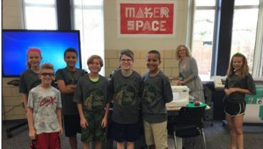The Greene Tech Team, comprised of sixth graders, helps other students problem solve technical issues. The group presented at the Learn21 Conference at Ohio State University.