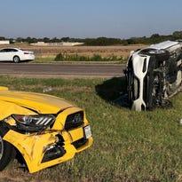1 sent to hospital after rollover accident near Burkburnett