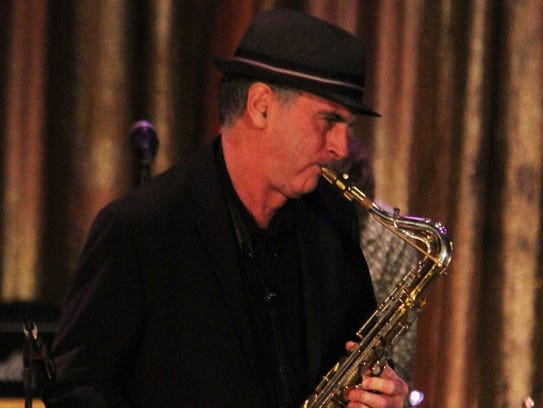 Eddie Manion on the sax at the 2015 Light of Day in