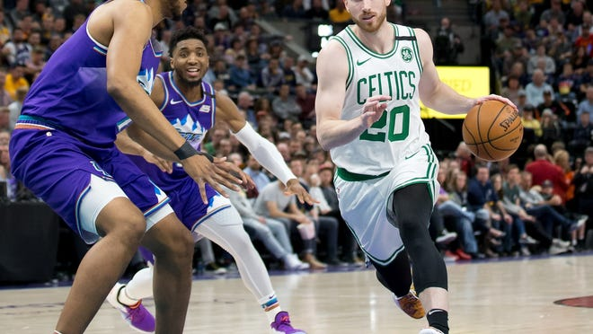 Celtics forward Gordon Hayward continues to drive toward progress since signing with Boston three years ago.