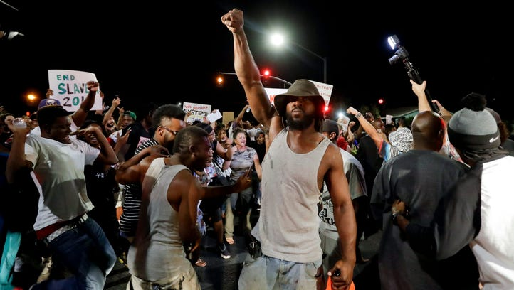 Dozens of demonstrators on Wednesday protested the