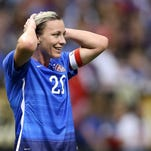 Abby Wambach #20 of the United States reacts during the women's soccer match against China at the Mercedes-Benz Superdome on Dec. 16, 2015 in New Orleans.