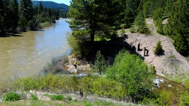 Belmont Creek spills into the Blackfoot River east of Clearwater Junction. A railroad and its bed once blocked trout from spawning in Belmont Creek. More than 650 miles of fish passage barriers have been removed on the river.