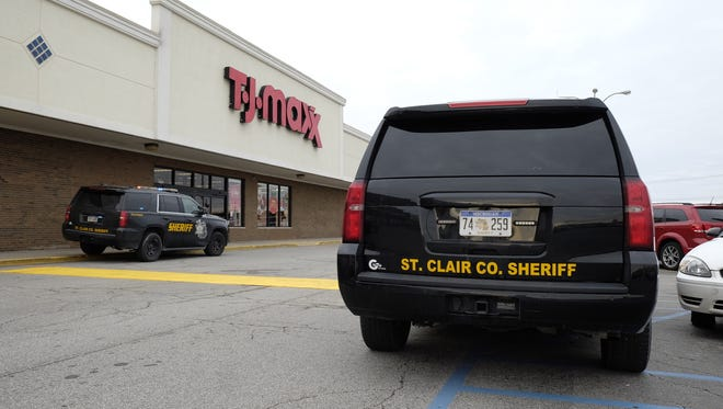 Deputies respond to a report of a scuffle inside T.J. Maxx in Fort Gratiot.