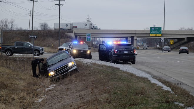A police chase ended in a crash Friday.