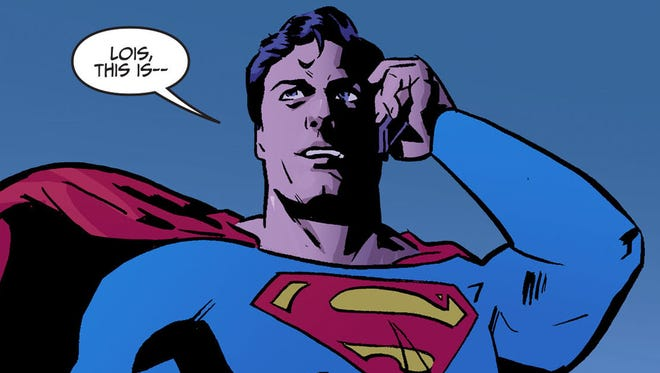 """Superman gets a mystery Valentine's Day gift from his love, Lois Lane, in a new """"Adventures of Superman"""" chapter written by Kelly Sue DeConnick."""