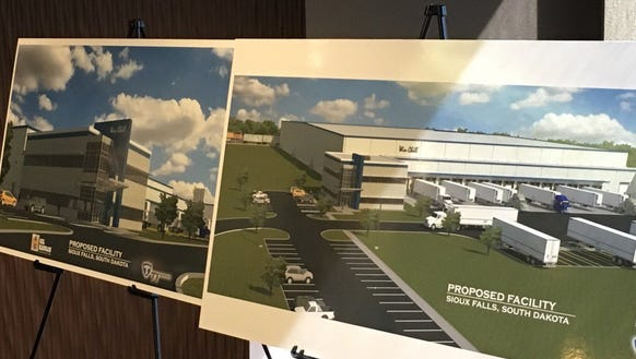 A proposed refrigerated warehouse at Foundation Park.