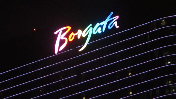 The Atlantic City Borgata casino at night.