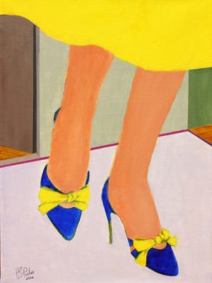 """Blue Shoes, Yellow Bows,"" 2012, by Henriette Simon Picker."