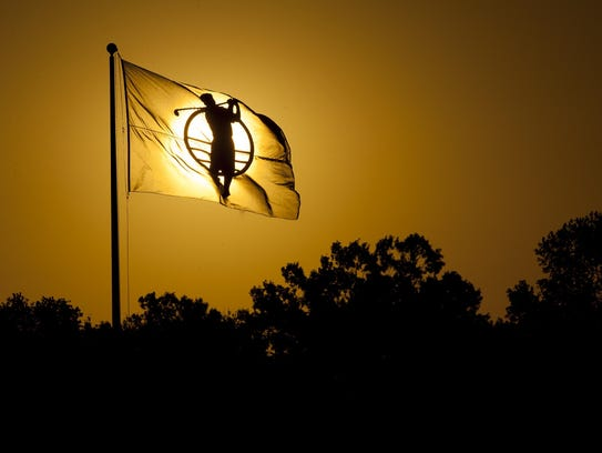 The sun rises before the Yokohama LPGA Classic Pro-Am