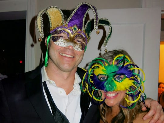 Josh Clayton and Kelly Focht at Krewe Highland Game