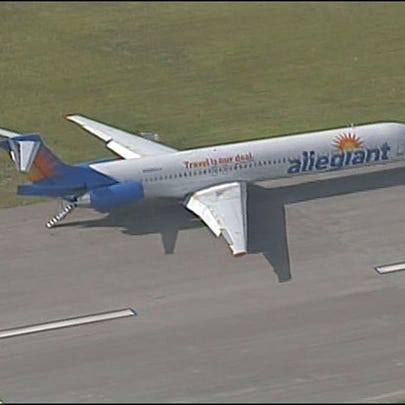 Allegiant plane on the runway at PIE.