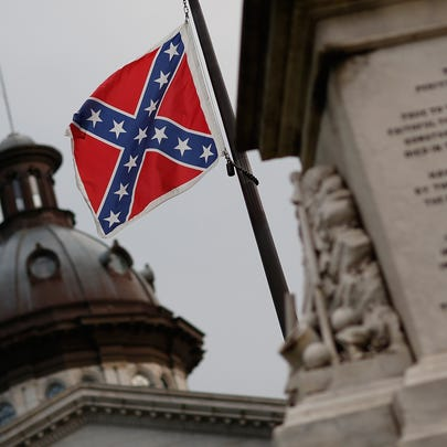 The Confederate flag flies at the South Carolina State