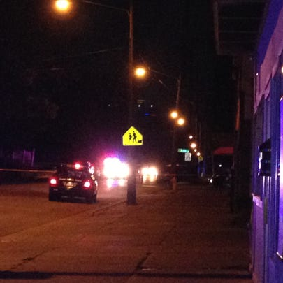 Scene of triple shooting, Madison Ave. & Brown St.