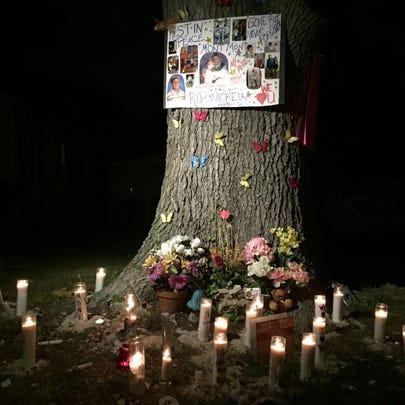 A memorial set up on Wickham Ave.