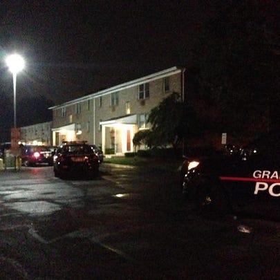 Scene of stabbing, Burton Square Apartments, Kalamazoo