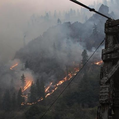 The Tepee Springs fire has jumped the Main Salmon River,