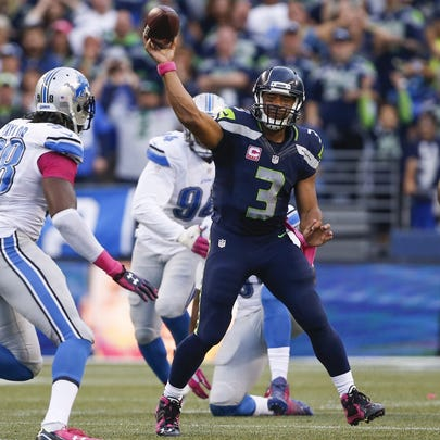 Seattle Seahawks quarterback Russell Wilson (3) passes