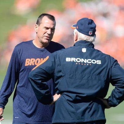 Jul 31, 2015; Englewood, CO, USA; Denver Broncos head