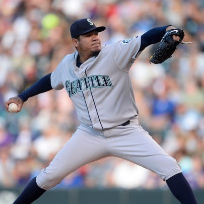 Aug 3, 2015; Denver, CO, USA; Seattle Mariners starting