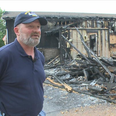 Fire destroys teachers' home in Hudson.