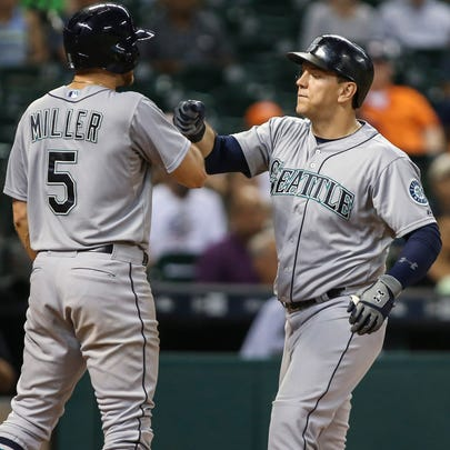 Sep 1, 2015; Houston, TX, USA; Seattle Mariners first