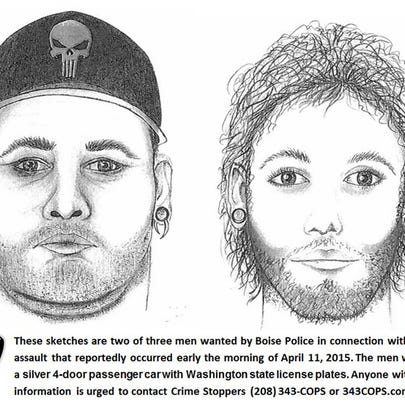 Sketch of sexual assault suspects.