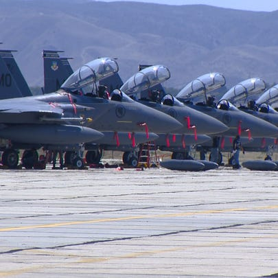 For the next three weeks a group of F-15s from MHAFB