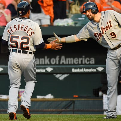 Jul 30, 2015; Baltimore, MD, USA; Detroit Tigers left