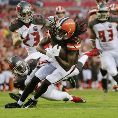 Aug 29, 2015; Tampa, FL, USA; Cleveland Browns wide