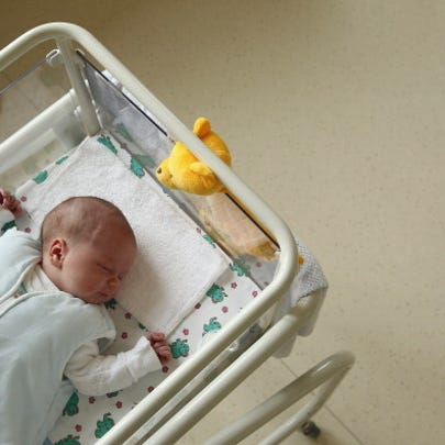 UNDISCLOSED, GERMANY - AUGUST 12:  A 4-day-old newborn